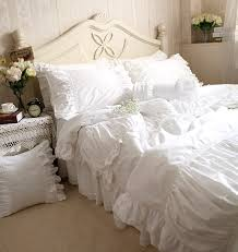 ruffled bedding set quality bedding set directly from china quilt cover suppliers luxury white lace ruffle bedding set twin full queen king