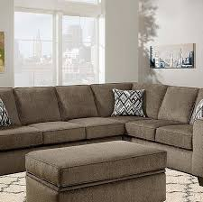grey textured l shaped two piece sofa sectional