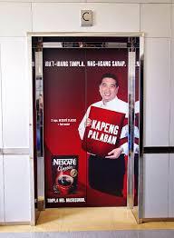 Door Wraps Nescafe Elevator Door Wraps Nestle Philippines Head Office Wcv