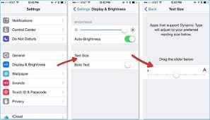 how to change text size how to change font size on iphone 8 x contacts text email notes