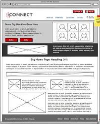 iconnect platform wireframes
