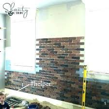 fashionable faux brick wall panels white paneling whitewash extraordinary whitewashing