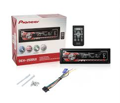 pioneer deh 2500ui cd mp3 car receiver w front aux usb w pair of pioneer deh-2500ui wiring harness pioneer deh 2500ui w ts g1644r