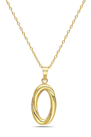 best silver inc 10k solid yellow gold love knot pendant necklace