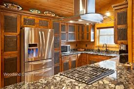 rustic kitchen cabinets. Knotty Alder Cabin Cabinets Rustic Kitchen