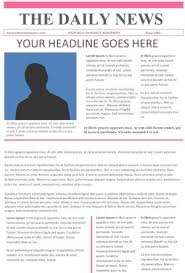 The Changing Times Newspaper Template 25 Free Google Docs Newspaper And Newsletter Template For