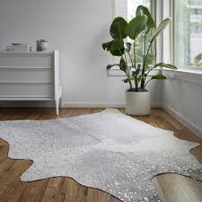 silver cowhide rug encourage clayton grey faux 3 10 x 5 on and also 9