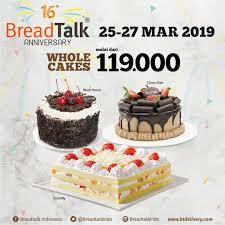 Breadtalk 16th Anniversary Promo Semua Roti Rp 7500 Dan Semua
