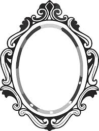 mirror clipart black and white. line drawing mirror frame | clipart panda - free images black and white