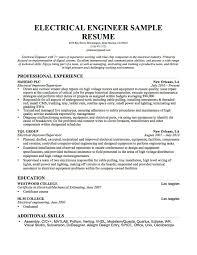 Engineering Electrical Engineering Student Resume