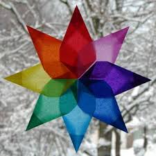 make your own christmas decorations window stars