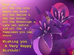 Purple Birthday Wishes For Her Special Birthday For A Special