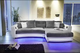 Design Sofa Couch Leder Wohnlandschaft Stoff Ecksofa L