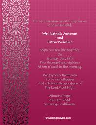 guide to wedding invitations messages invitation wording, indian Wedding Countdown Messages christian wedding invitation wording samples wordings and messages Wedding Countdown Printable