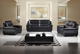 American Eagle EKBB Modern Pcs Black Leather Sofa Set - All leather sofa sets