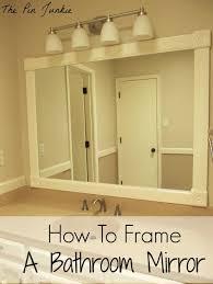 Bathroom Framed Mirrors Bathroom Rustic Framed Bathroom Mirror Ideas Framed Bathroom