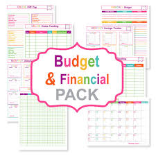 Monthly Bill Organizer Book Printable Budget Planner Pack Printable Bill Tracker Printable