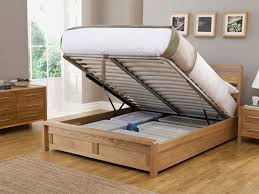 hip hop ottoman double size bed frame with lift up storage home regarding wooden plan 2