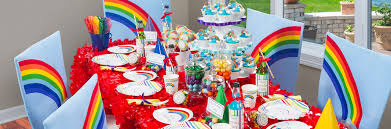 Small Picture Interior Design Rainbow Themed Birthday Party Decorations Small
