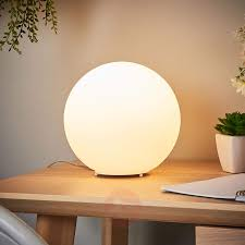 Spherical Glass Table Lamp Fenja With Led Bulb