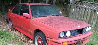 guy found an abandoned bmw e30 m3 in the woods article types woods