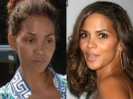 image result for halle berry without makeup