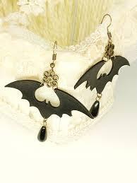 [28% OFF] 2020 <b>Halloween PU Bat Drop</b> Earrings In BLACK | ZAFUL