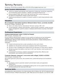 Linux Admin Resume Sample System Admin Resume Sample For An Entry Level Systems Administrator 18