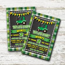John Deere Tractor Birthday Create A Party Invite Creating