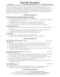 Resume Professional Profile Examples Best Of Service Industry Resume Examples Service Industry Resume Examples