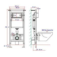 eago psf332 in wall tank carrier for
