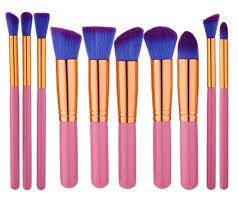 free p p 10pc pink prism brush set uk makeupblusher