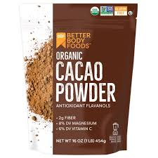 Stir 1/4 of a teaspoon into a glass of water and consume 3 times daily, with meals. Betterbody Foods Organic Cacao Powder 16 Oz Walmart Com Walmart Com
