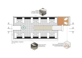 floor plan of the office. Floor Plan Of The Office Space Crafted From Containers