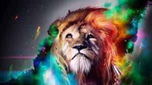 Colorful Lion Wallpaper on WallpaperSafari