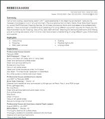 Sample Cleaning Resume Cleaner Gallery Of House Office Lady Examples Classy Cleaner Resume