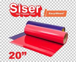 Heat Transfer Vinyl Heat Press Color Chart Siser Srl Png