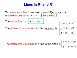P L Form Unique 4848 Lines And Planes To Determine A Line L We Need A Point Px 48y