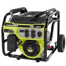 Ryobi 5 500 Watt Gasoline Powered Portable Generator RY