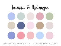 Lavender & Hydrangea Palette | Procreate Color Palette | Purple Pink | iPad  App Custom Palette | Swatches | Lettering | Brushes | Tools in 2021 |  Rainbow palette, Custom palette, Palette