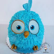 Sweetflavors - Angry birds cake and baby angry bird smash...