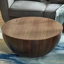 storage walnut bowl shaped coffee table