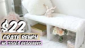 crate bench diy crate furniture