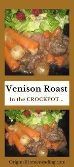 cook a venison roast in a crock pot