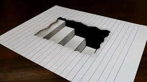 3d pencil drawings on paper step by step how to draw 3d steps in line paper
