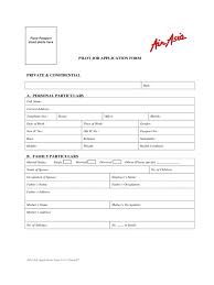 Airline Job Application Form Samples Free Templates In Pdf Word