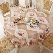 200cm round table cloth lace table cover decorative elegant wedding tablecloth home hotel restaurant party table