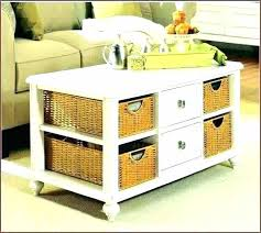 side table with wicker baskets wicker basket coffee table side table with wicker baskets furniture charming