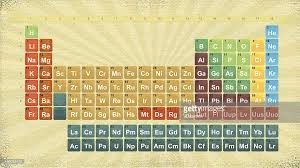 Colorful Textured Periodic Table Of Elements Design Vector Art ...