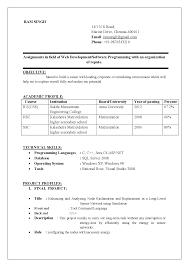 Best Resume Samples For Freshers Engineers Bongdaao Com